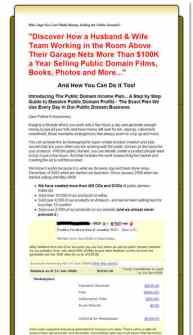 The Public Domain Plan...Making Money with Public Domain